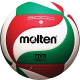 MOLTEN Bola Voli Size 5 [V5M5000] - White/Red/Green
